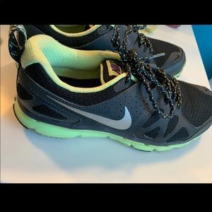 Nike black and green running sneakers